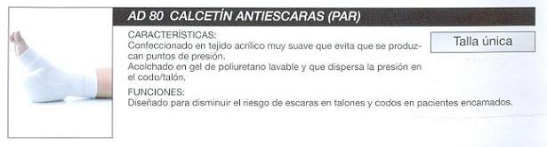 Calcetín Antiescaras PAR Tejido Acrílico.