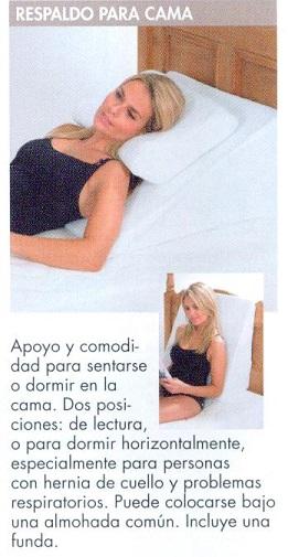 Respaldo para cama apoyo y comodidad asister for Cojin para leer en la cama