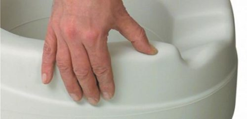 Asiento De Inodoro Acolchado CONTACT PLUS XXL BLANDO. Hasta 185 kg. Higiénico y Protege Contra las Bacterias.