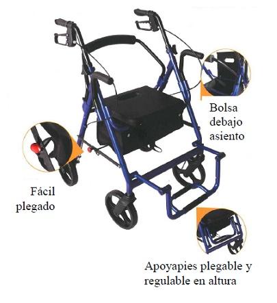 Andador Y Silla R9 2 en 1 silla de ruedas y el andador
