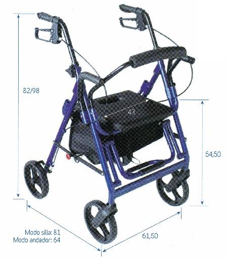 andador y silla