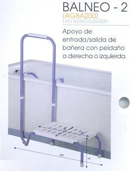 Apoyo De Bañera Entrada/Salida BALNEO 2
