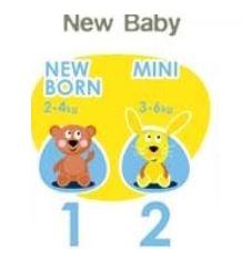 Pañales Infantiles FREELIFE bébécash T1 RECIÉN NACIDO 2-4 kg