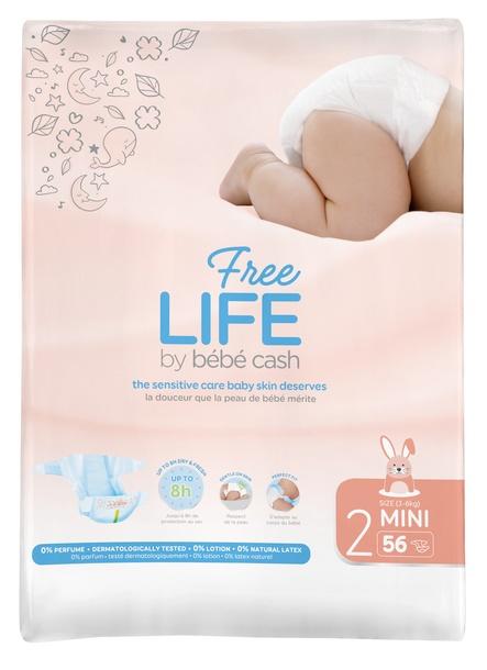 Pañales Infantiles FREELIFE bébécash T2