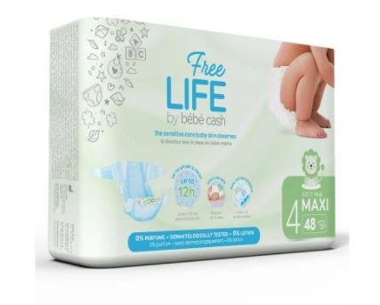 Pañal Infantil FREELIFE bébécash T4 MAXI