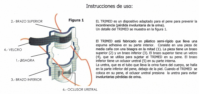 Trimed Dispositivo Incontinencia Masculina.