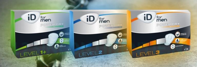 Apósitos Anatómicos Para Hombre Absorbentes Levels 1+, 2, 3.