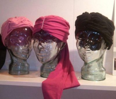 turbantes de colores