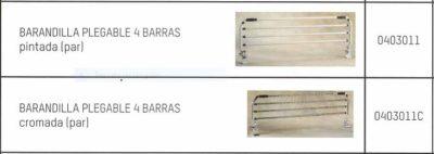 Barandillas Plegables 4 Barras PINTADAS