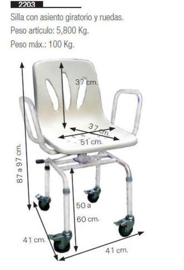 Silla de ducha con asiento giratorio y ruedas asister for Sillas para la ducha