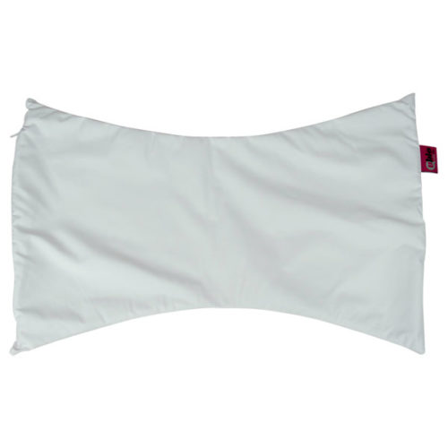 funda blanca para almohada mariposa de bambu