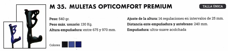 muletas opticomfort premium
