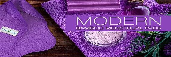 Artículo de Higiene Femenina REUTILIZABLES De LadyPad. De bambú orgánico y de algodón orgánico.