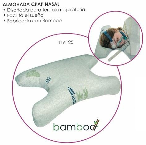 Almohada CPAP Nasal. Bamboo. Eficaz para tratar las apneas.