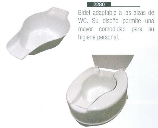 Bidet adaptable adaptable a las alzas de wc asister for Bidet para wc