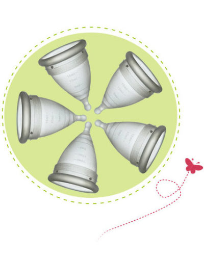 Pack 5 Amigas Copa Menstrual. Copa menstrual reutilizable.