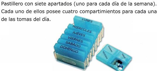 pastillero organizador