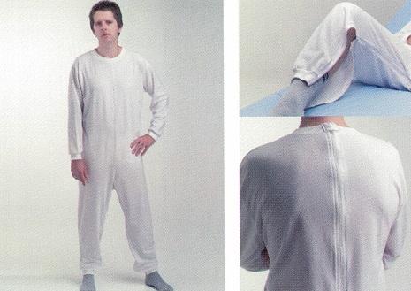Pijama Geriátrico MANGA Larga O Corta. 1 ó 2 cremalleras.