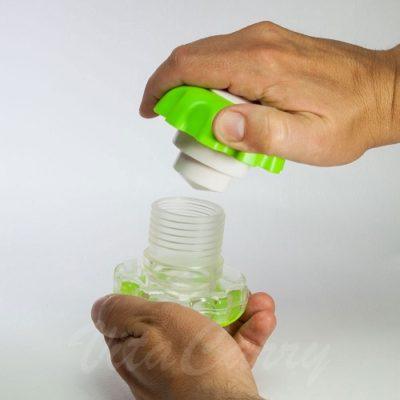 Triturador De Pastillas Manual ERGO GRIP. Asas para fácil agarre y giro.