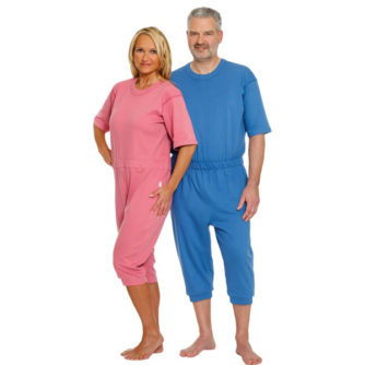 Pijamas Manga Corta. Facilita la labor del cuidador.