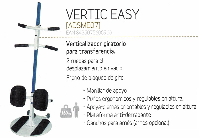 Verticalizador Giratorio Vertic Easy Transferencia Activa