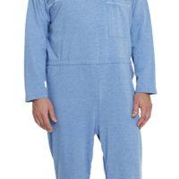 Pijama Casero AZUL JEANS, UNISEX. Con fácil acceso a pañales.