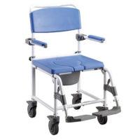 silla ducha con inodoro aluminio