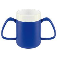 taza con asas adaptada azul