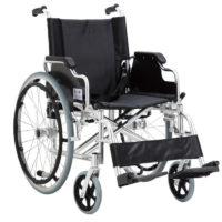 silla de ruedas aluminio con reposabrazos