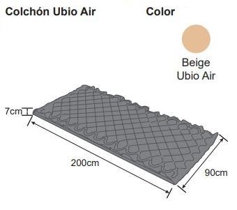 colchón ubio aire