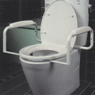 Apoyabrazos De Seguridad WC. Diseñado para adaptarse a los inodoros estándar y alargados.