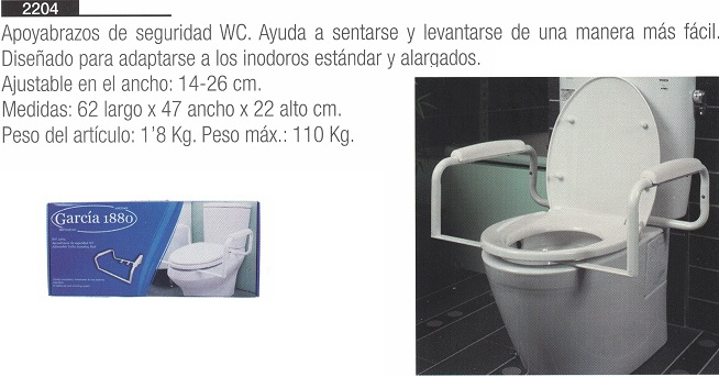 Apoyabrazos de Seguridad WC