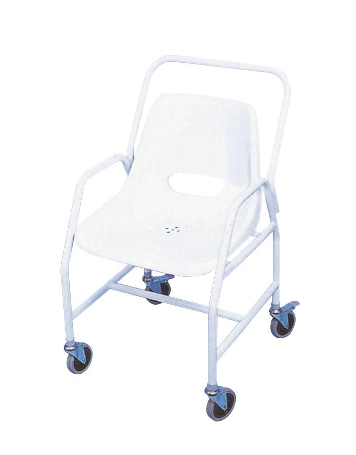 Silla de ducha m vil f cil maniobrabilidad asister for Sillas para ducha