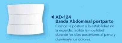 banda abdominal postparto