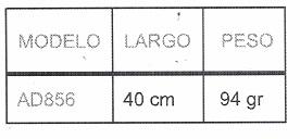 tabla de medidas producto de ETAC