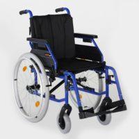 silla de ruedas azul