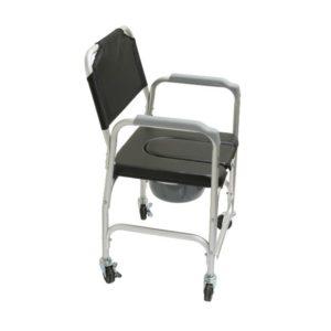 silla de aluminio con inodoro