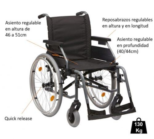 caracteristica silla vario