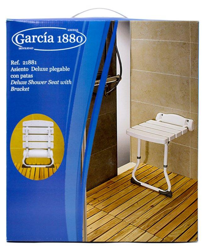 embalaje del producto silla plegable de pared para duchar