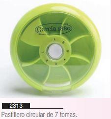 pastillero circular de 7 tomas