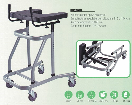Rollator NOLIMIT Apoyo Antebrazo