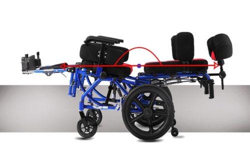 silla posicional de aluminio CARE