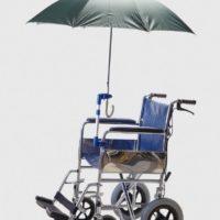porta paraguas para silla de ruedas