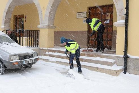 nevadas en Cedrillas, Teruel