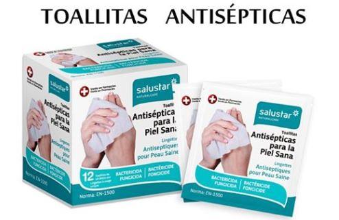 Toallitas Antisépticas Monodosis SALUSTAR.