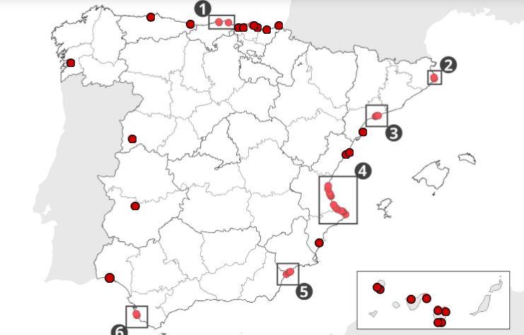 playas adaptadas en España
