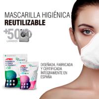 mascarilla apex reutilizable higienica 50 lavados