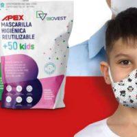 Mascarilla Higiénica Para Niños Reutilizable