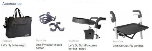 accesorios andador trust care