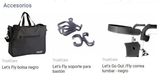accesorios andador trust care let´s fly